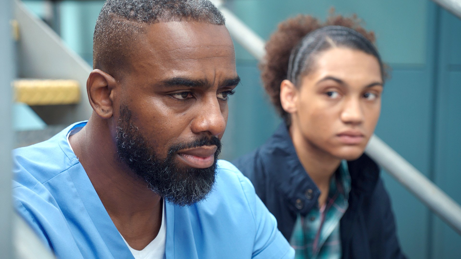 WARNING: Embargoed for publication until 00:00:01 on 02/10/2018 - Programme Name: Casualty - Series 33 - TX: 06/10/2018 - Episode: Casualty - Series 33 - Ep8 (No. 8) - Picture Shows: Jacob Masters (CHARLES VENN), Blake Gardner (KAI THORNE) - (C) BBC - Photographer: n/a