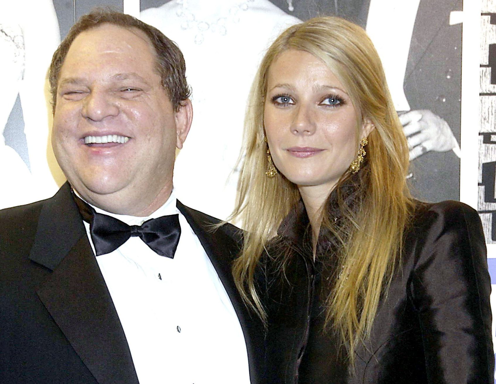 UNITED KINGDOM - OCTOBER 20: Gwyneth Paltrow With Harvey Weinstein, The 50th Anniversary Gala Of The National Film Theatre, At The National Film Theatre, London (Photo by Dave Benett/Getty Images)