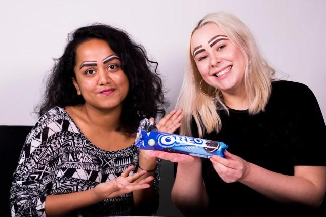 Oreo eyebrows Faima & Jess
