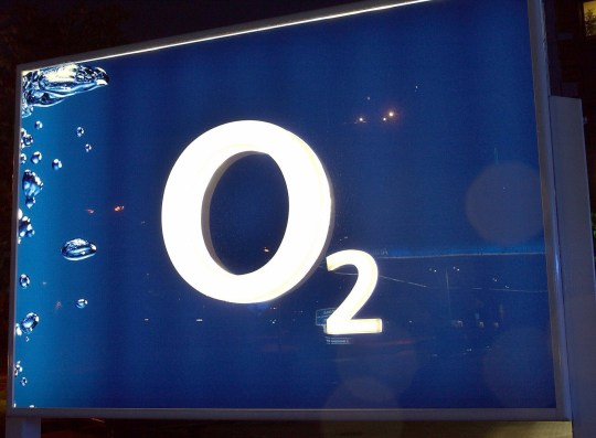 PA PHOTOS / DPA - UK USE ONLY : The logo of the mobile network provider O2 is seen in Munich. O2 will publish its annual figures on 21 May. With a market share of 7.8 per cent O2 is the smallest of the four mobile network providers in Germany.