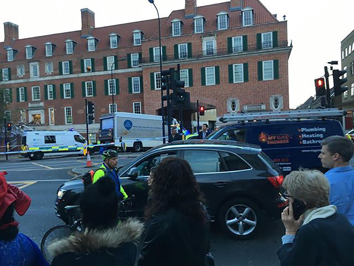 Female cyclist 'run over by Tesco lorry' after crash in London