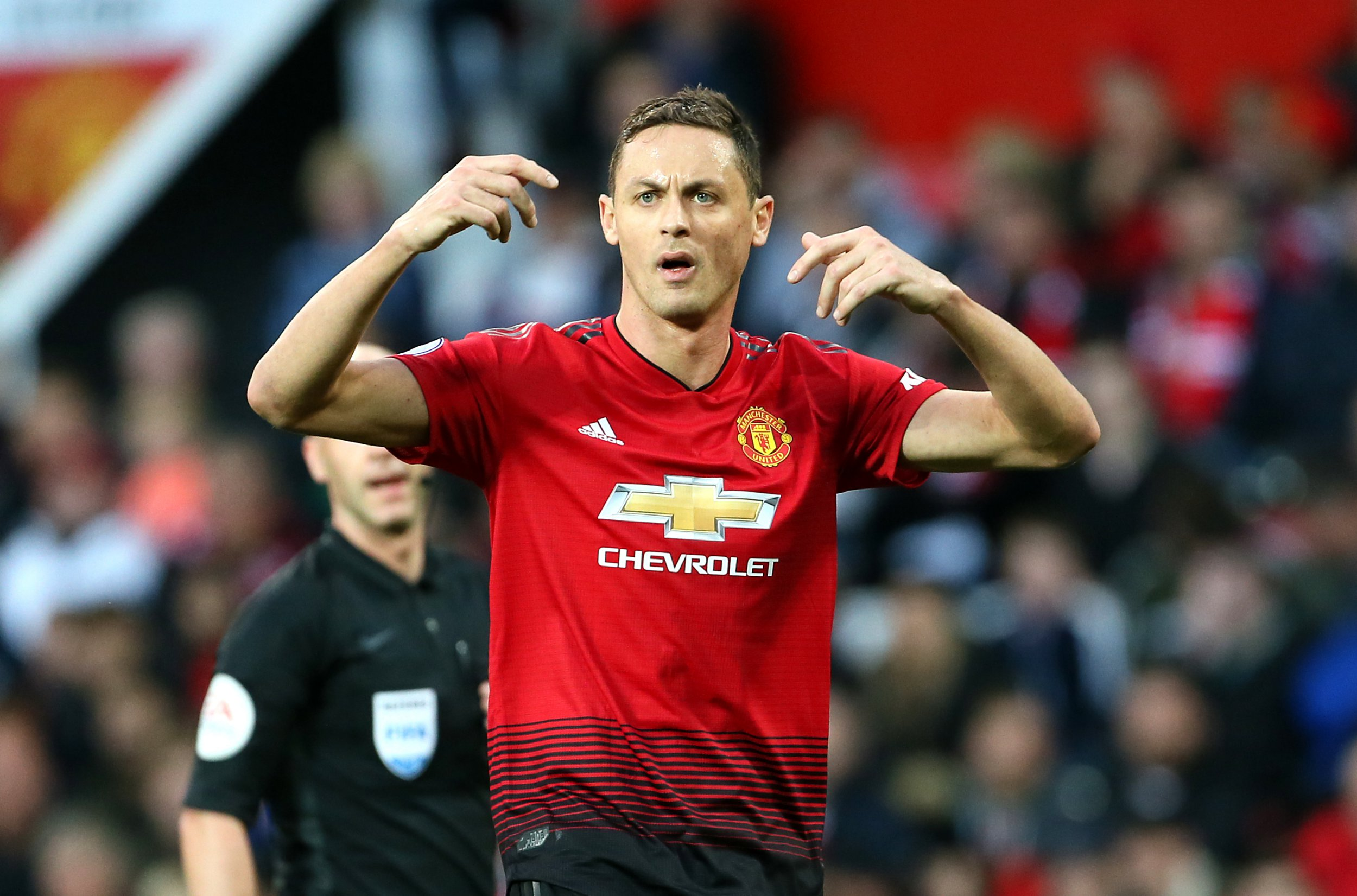 Manchester United's Nemanja Matic reacts