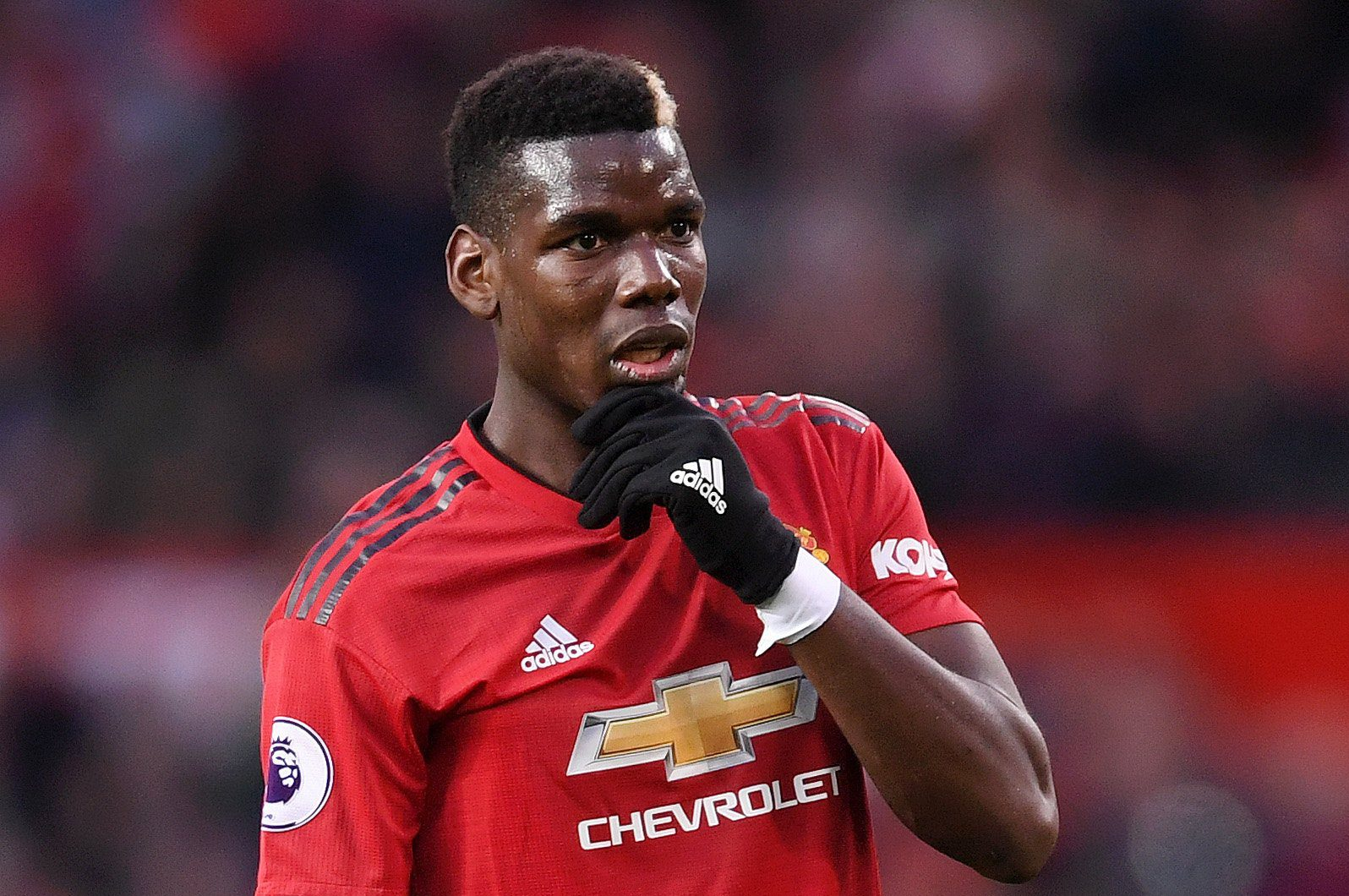 MANCHESTER, ENGLAND - OCTOBER 06: Paul Pogba of Manchester United looks dejected during the Premier League match between Manchester United and Newcastle United at Old Trafford on October 6, 2018 in Manchester, United Kingdom. (Photo by Laurence Griffiths/Getty Images)