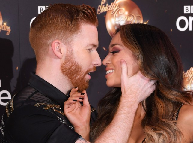 Mandatory Credit: Photo by David Fisher/REX/Shutterstock (9808991fl) Neil Jones and Katya Jones 'Strictly Come Dancing' TV show launch, BBC Broadcasting House, London, UK - 27 Aug 2018
