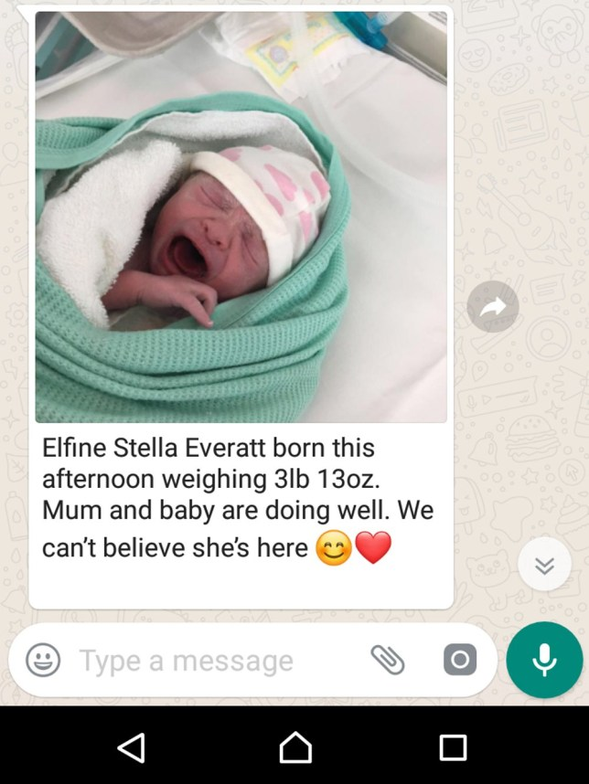 Mum Hid Her Pregnancy Before Announcing Her New Baby On Whatsapp