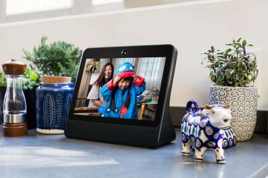 A smart speaker device by Facebook Inc. called Portal is shown in this photo released by Facebook Inc. from Menlo Park, California, U.S., October 5, 2018. Courtesy Facebook Inc./Handout via REUTERS. ATTENTION EDITORS - THIS IMAGE HAS BEEN SUPPLIED BY A THIRD PARTY. NO RESALES. NO ARCHIVES.