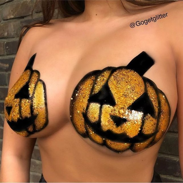 Introducing pumpkin boobs METRO GRAB taken from: https://www.instagram.com/p/BohpybXHZOt/?hl=en&tagged=pumpkinboobs%F0%9F%8E%83%F0%9F%8E%83 Credit: gogetglitter/Instagram