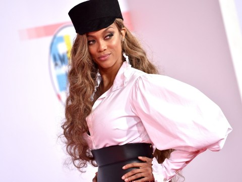 Tyra Banks confirms she will produce on Life-Size 2 as she stuns on the American Music Awards red carpet