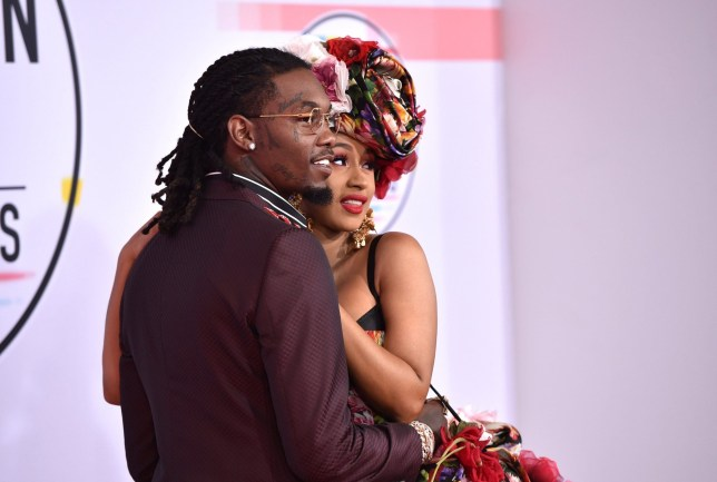 LOS ANGELES, CA - OCTOBER 09: Offset of Migos (L) and Cardi B attend the 2018 American Music Awards at Microsoft Theater on October 9, 2018 in Los Angeles, California. (Photo by John Shearer/Getty Images For dcp)