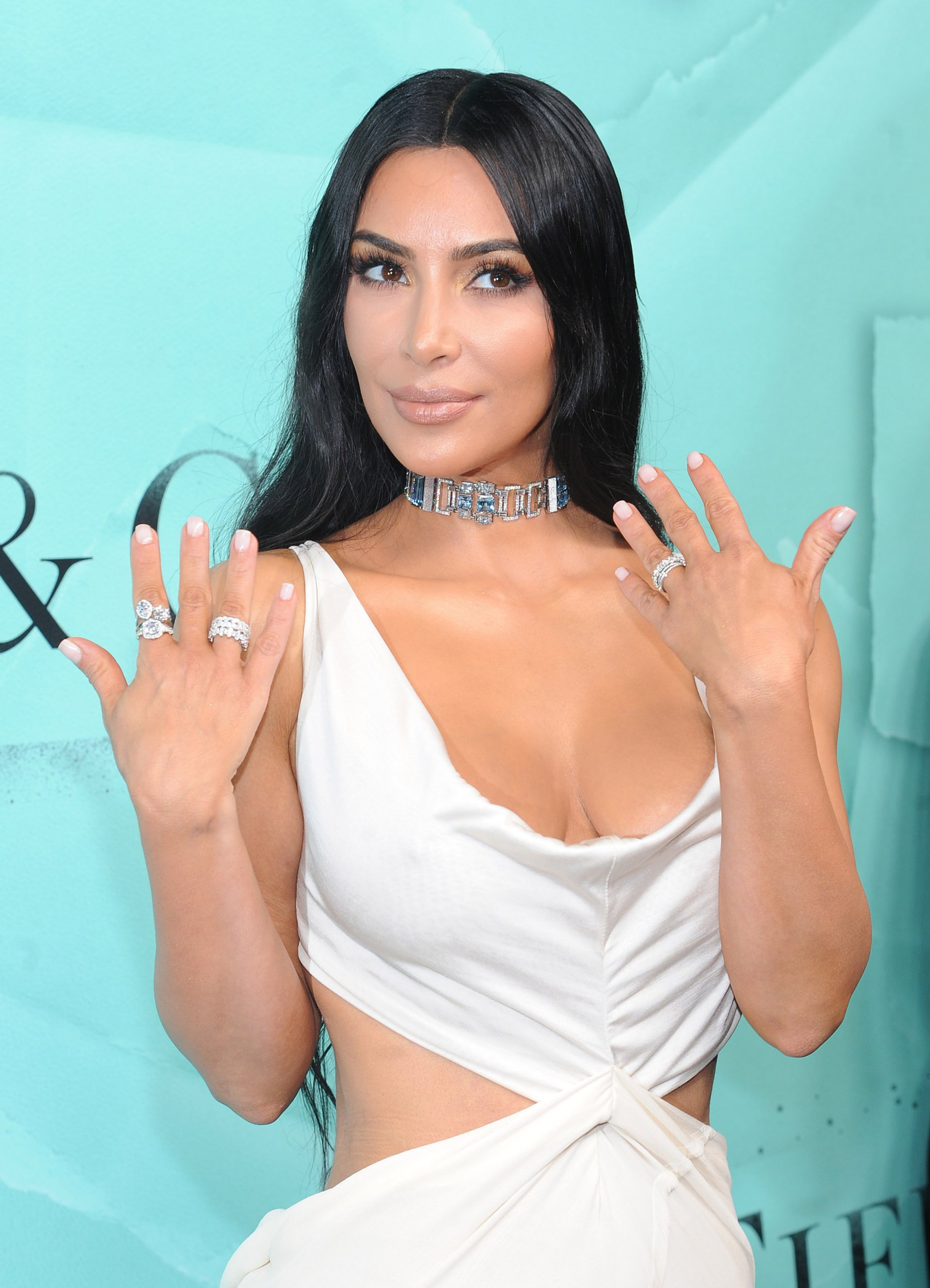 Kim Kardashian West, Priyanka Chopra, Zoe Kravitz, Rachel Brosnahan, Mary J Blige and more attend the Tiffany & Co. Blue Book collection, The Four Seasons Of Tiffany at Studio 525 on October 9, 2018 in New York City. Pictured: Kim Kardashian West Ref: SPL5032024 101018 NON-EXCLUSIVE Picture by: Jackie Brown / SplashNews.com Splash News and Pictures Los Angeles: 310-821-2666 New York: 212-619-2666 London: 0207 644 7656 Milan: +39 02 4399 8577 Sydney: +61 02 9240 7700 photodesk@splashnews.com World Rights,
