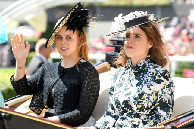 ASCOT, ENGLAND - JUNE 21: Princess Beatrice of York and Princess Eugenie of York attend Royal Ascot Day 3 at Ascot Racecourse on June 21, 2018 in Ascot, United Kingdom. (Photo by Karwai Tang/WireImage)