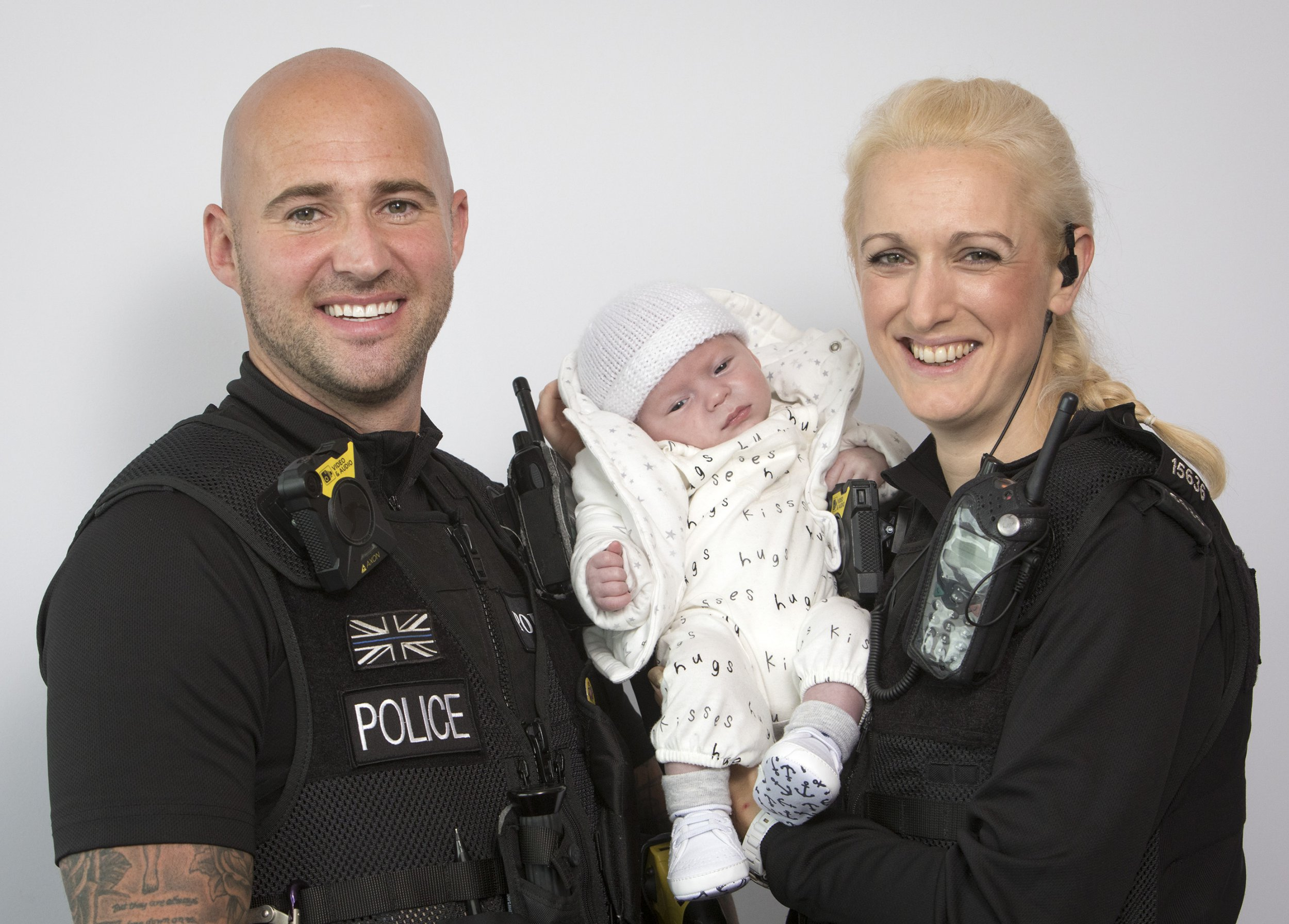 Police hailed heroes after saving six-day-old baby's life