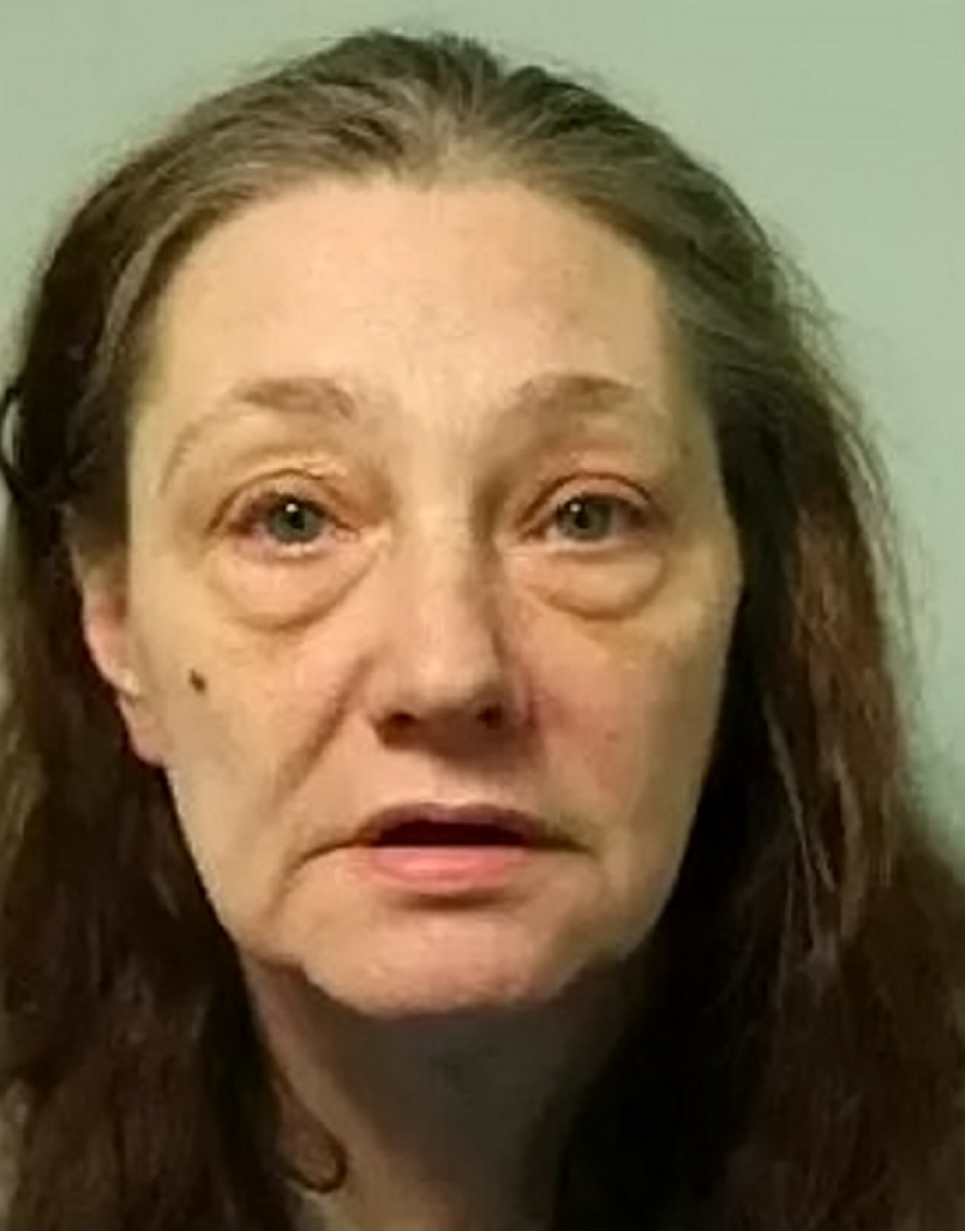 Mugshot of Joanne Hatwell, 46. See national story NNpension.An evil mum and her son who knifed a frail 75-year-old man for his pension have been locked up for 16 years.Jobless thug Joanne Hatwell, 46, followed the victim home after he collected his ?160 pension before she and her son Ryan Hatwell, 27, robbed him.The victim was forced to move into a care home after the sickening attack, which caused his health to deteriorate.Joanne Hatwell was jailed for eight years after she was found guilty of robbery at Snaresbrook Crown Court.
