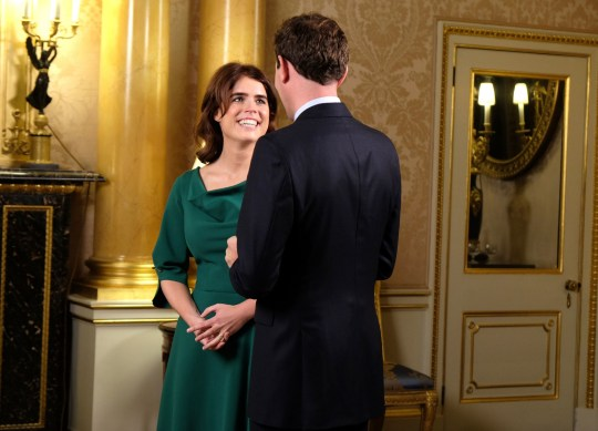 EMBARGOED TO 0001 FRIDAY OCTOBER 12 Undated handout photo issued by Royal Communications of Princess Eugenie and Jack Brooksbank, who were interviewed by ITV This Morning?s husband and wife duo Eamonn Holmes and Ruth Langsford who quizzed them about wedding jitters, ahead of their big day on Friday. PRESS ASSOCIATION Photo. Issue date: Friday October 12, 2018. The couple See PA story ROYAL Wedding Interview. Photo credit should read: Royal Communications/PA Wire NOTE TO EDITORS: This handout photo may only be used in for editorial reporting purposes for the contemporaneous illustration of events, things or the people in the image or facts mentioned in the caption. Reuse of the picture may require further permission from the copyright holder.