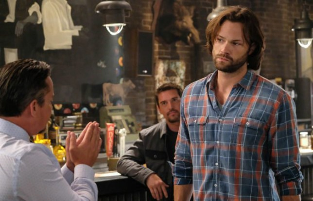 "Supernatural -- ""Stranger in a Strange Land"" -- Image Number: SN1401b_0293b.jpg -- Pictured (L-R): Dean Armstrong as Kip and Jared Padalecki as Sam -- Photo: Bettina Strauss/The CW -- ???? 2018 The CW Network, LLC All Rights Reserved"