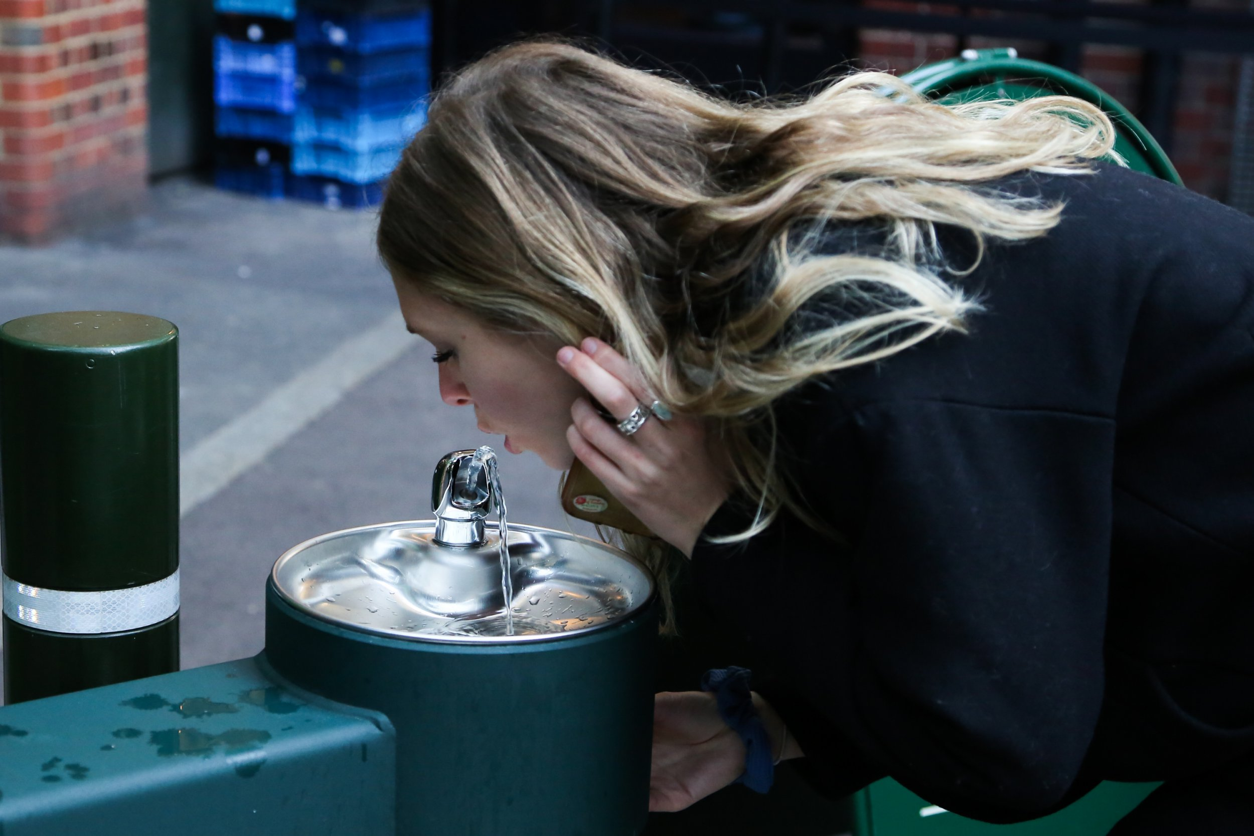 Water fountains in Borough Market. At least 20 new water fountains are to be set up in London, where consumers will be encouraged to refill their water bottles free of charge. The scheme aims to fight the growing scourge of waste created by single-use plastic by preventing the use of tens of millions of plastic bottles every year, as well as increasing the availability of quality drinking water. Featuring: Atmosphere Where: London, United Kingdom When: 26 Jan 2018 Credit: WENN.com