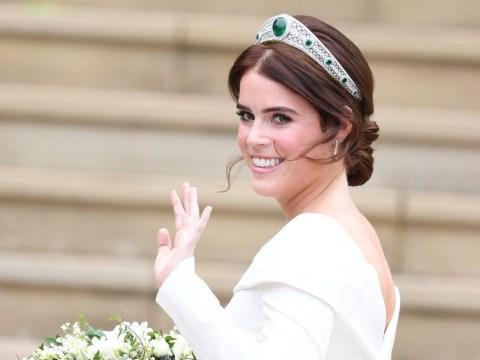 Princess Eugenie wears the Queen Mother's emerald Kokoshnik tiara for royal wedding