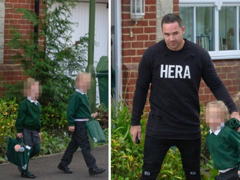 Kieran Hayler does the school run with Jett and Bunny after Katie Price arrest for drink driving