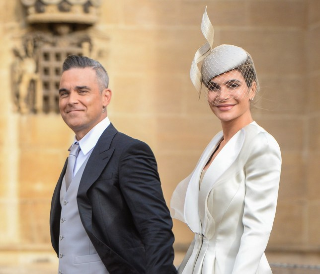 The wedding of Princess Eugenie of York and Jack Brooksbank in Windsor Featuring: Robbie Williams, Ayda Field Where: Windsor, United Kingdom When: 12 Oct 2018 Credit: John Rainford/WENN