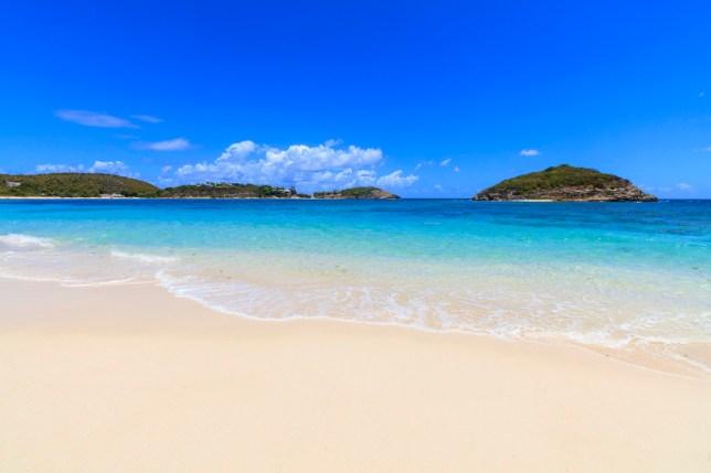 White sand beach, Half Moon Bay, Antigua and Barbuda, Caribbean, Leeward Islands, West Indies
