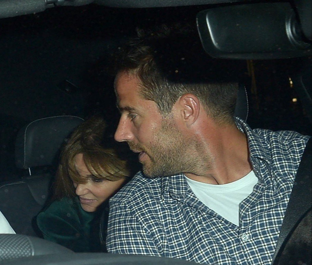 EXCLUSIVE: * Fee For Online 300 GBP For SET * * Min Print Fee 200 GBP PP * Double For Pg1 * Jamie Redknapp and Jemima Khan enjoy a night together at The Chiltern Firehouse. Jemima left out the back exit whilst Jamie left via the front before the pair met up and Jemima is caught jumping into the back Jamie's chaffer driven Audi 4x4. Jemima attempted to hide herself from photographers but Jamie seemed to be amused by the whole situation. An inside source said the pair couldn't keep their hands off each other inside The Chiltern Firehouse. Pictured: Jemima Khan,Jamie Redknapp Ref: SPL5033092 131018 EXCLUSIVE Picture by: SplashNews.com * Fee For Online 300 GBP For SET * * Min Print Fee 200 GBP PP * Double For Pg1 * Splash News and Pictures Los Angeles: 310-821-2666 New York: 212-619-2666 London: 0207 644 7656 Milan: +39 02 4399 8577 Sydney: +61 02 9240 7700 photodesk@splashnews.com World Rights