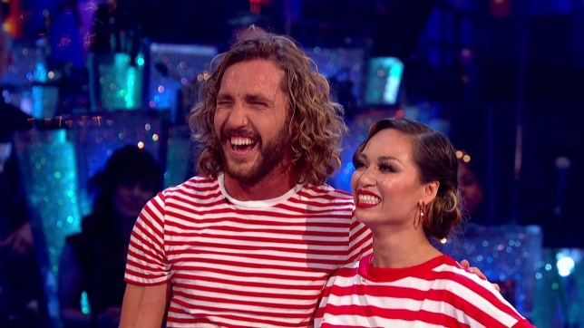 Seann Walsh and Katya Jones perform for the judges on 'Strictly Come Dancing'. Broadcast on BBC One Featuring: Seann Walsh, Katya Jones When: 13 Oct 2018 Credit: Supplied by WENN **WENN does not claim any ownership including but not limited to Copyright, License in attached material. Fees charged by WENN are for WENN's services only, do not, nor are they intended to, convey to the user any ownership of Copyright, License in material. By publishing this material you expressly agree to indemnify, to hold WENN, its directors, shareholders, employees harmless from any loss, claims, damages, demands, expenses (including legal fees), any causes of action, allegation against WENN arising out of, connected in any way with publication of the material.**