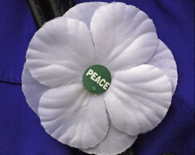 a White poppy for peace