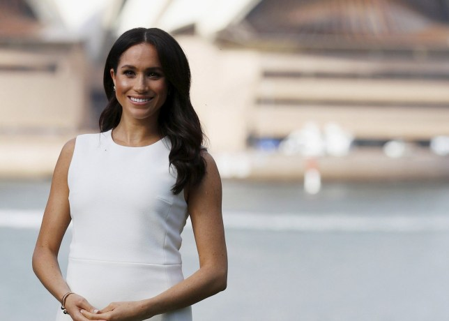 Meghan, Duchess of Sussex poses for a photo at Admiralty House in Sydney, Australia, Tuesday, Oct. 16, 2018. (Phil Noble/Pool Photo via AP)