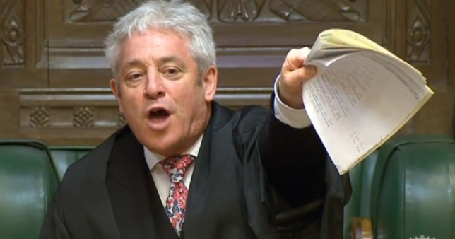 Speaker John Bercow speaks during Prime Minister's Questions in the House of Commons before the SNP's Westminster leader Ian Blackford was kicked out of Commons sittings for the rest of the day after repeatedly challenging him.