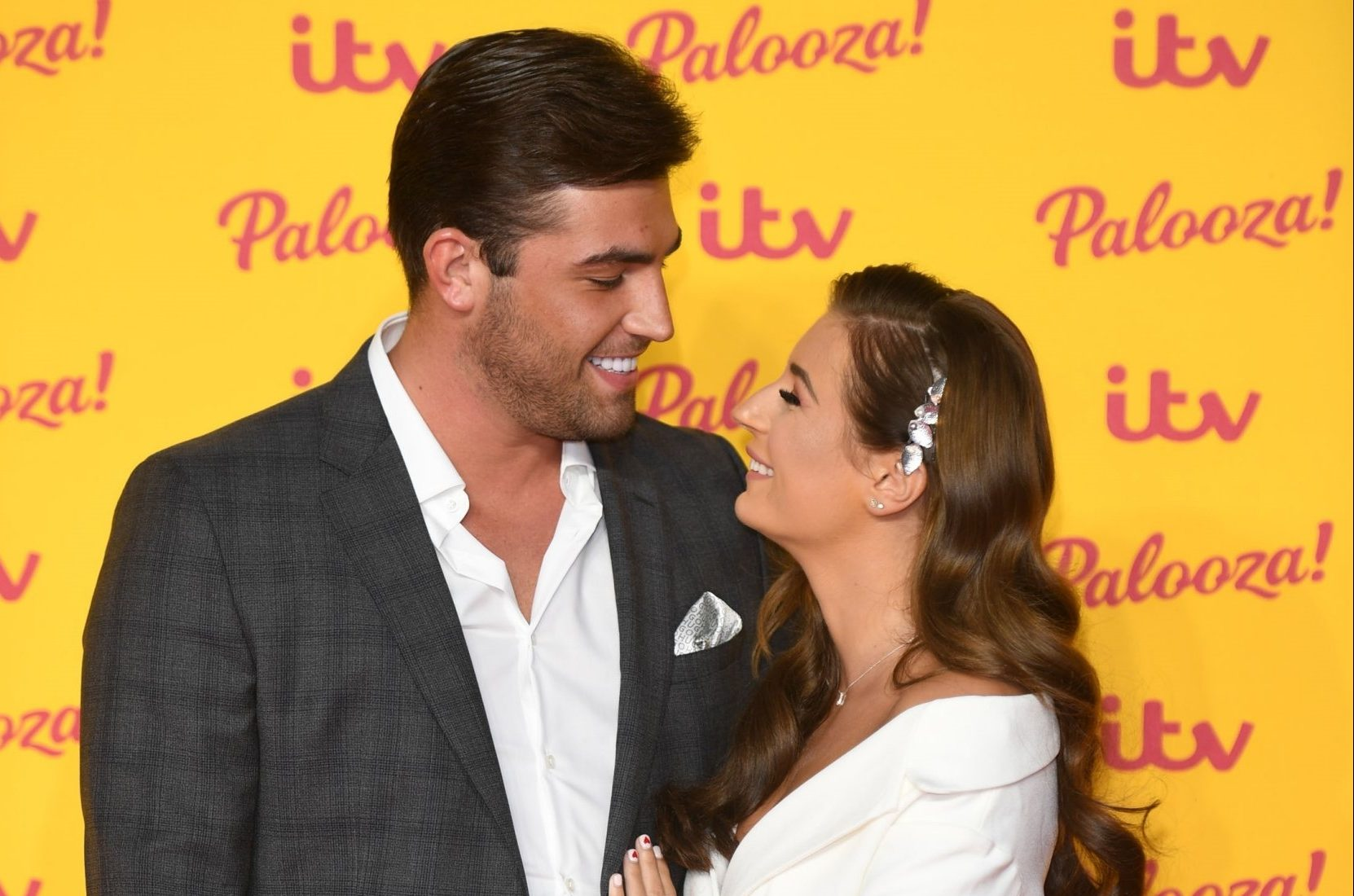 BGUK_1370397 - London, UNITED KINGDOM - Celebrities attend ITV Palooza held at the Royal Festival Hall, Southbank Centre, London. Pictured: Jack Fincham and Dani Dyer BACKGRID UK 16 OCTOBER 2018 BYLINE MUST READ: TIMMSY / BACKGRID UK: +44 208 344 2007 / uksales@backgrid.com USA: +1 310 798 9111 / usasales@backgrid.com *UK Clients - Pictures Containing Children Please Pixelate Face Prior To Publication*