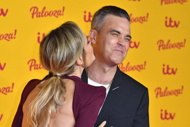 16 October 2018. ITV Palooza at the Royal Festival Halls, London. Robbie Williams, Ayda Field Credit: Andy Oliver/GoffPhotos.com Ref: KGC-143