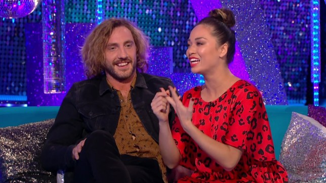 Seann Walsh and Katya Jones discuss their next routine with Zoe ball on 'Strictly Come Dancing: It Takes Two'. Broadcast on BBC Two Featuring: Seann Walsh, Katya Jones When: 17 Oct 2018 Credit: Supplied by WENN **WENN does not claim any ownership including but not limited to Copyright, License in attached material. Fees charged by WENN are for WENN's services only, do not, nor are they intended to, convey to the user any ownership of Copyright, License in material. By publishing this material you expressly agree to indemnify, to hold WENN, its directors, shareholders, employees harmless from any loss, claims, damages, demands, expenses (including legal fees), any causes of action, allegation against WENN arising out of, connected in any way with publication of the material.**