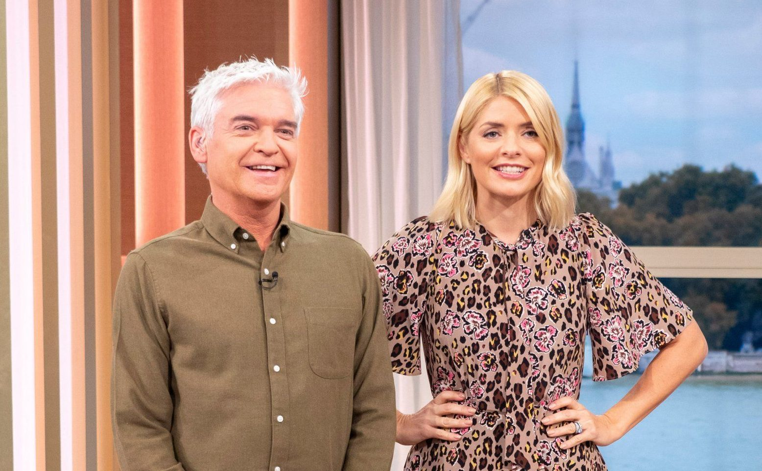 Editorial use only Mandatory Credit: Photo by Ken McKay/ITV/REX (9937103bx) Phillip Schofield and Holly Willoughby 'This Morning' TV show, London, UK - 18 Oct 2018