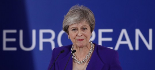 BRUSSELS, BELGIUM - OCTOBER 18: British Prime Minister Theresa May speaks to the media following the October EU summit on October 18, 2018 in Brussels, Belgium. May addressed EU leaders the day before on the progress of Brexit negotiations. Today leaders are discussing the deepening of the Economic and Monetary Union as well as migration and internal security. (Photo by Sean Gallup/Getty Images)