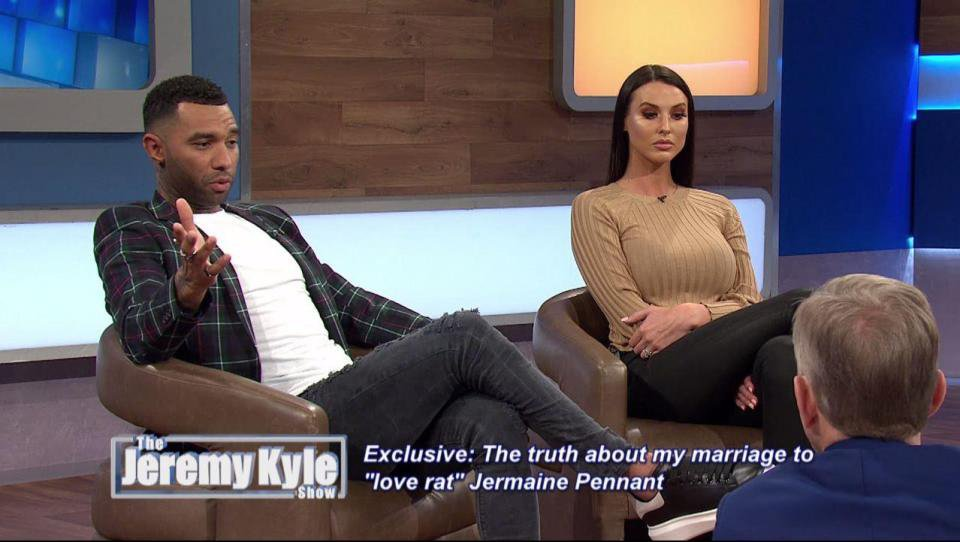 Jermaine Pennant refuses to take lie detector test on Jeremy Kyle (Picture: ITV)