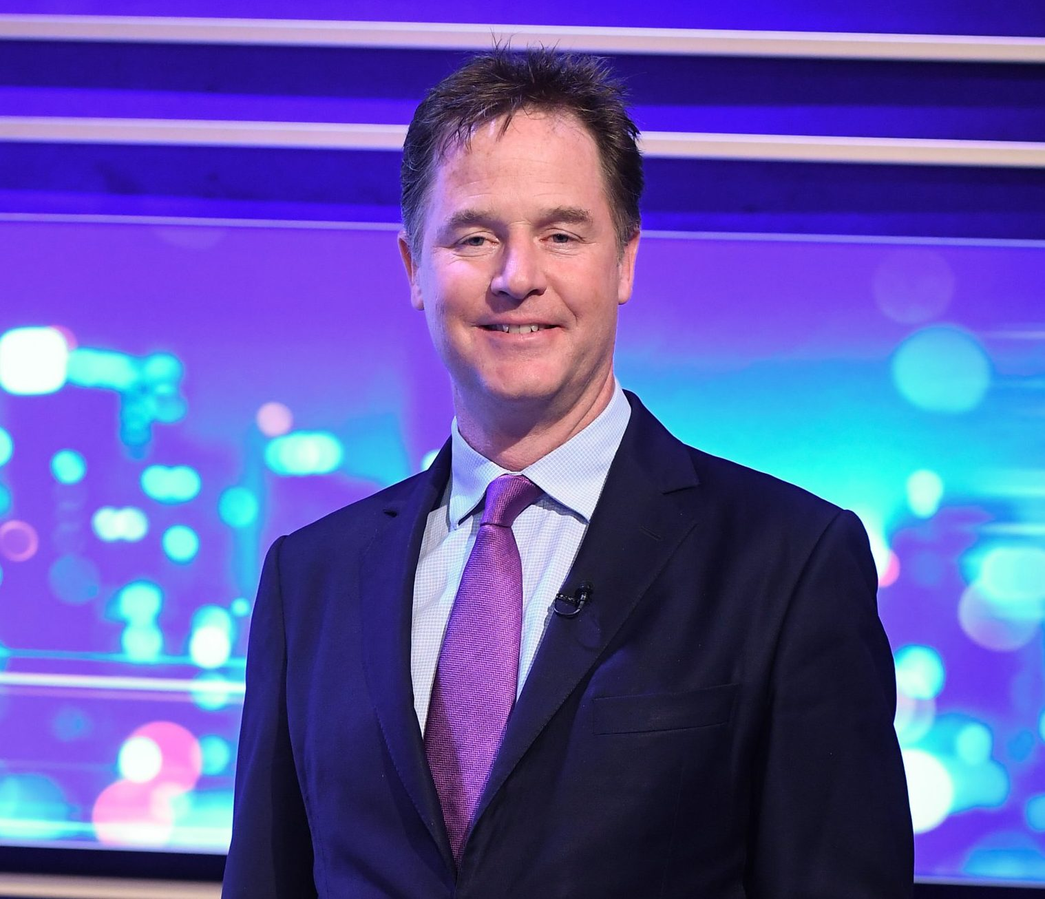 Mandatory Credit: Photo by Jonathan Hordle/ITV/REX/Shutterstock (9921539b) Nick Clegg 'Peston' TV Show, Series 1, Episode 3, London, UK - 10 Oct 2018