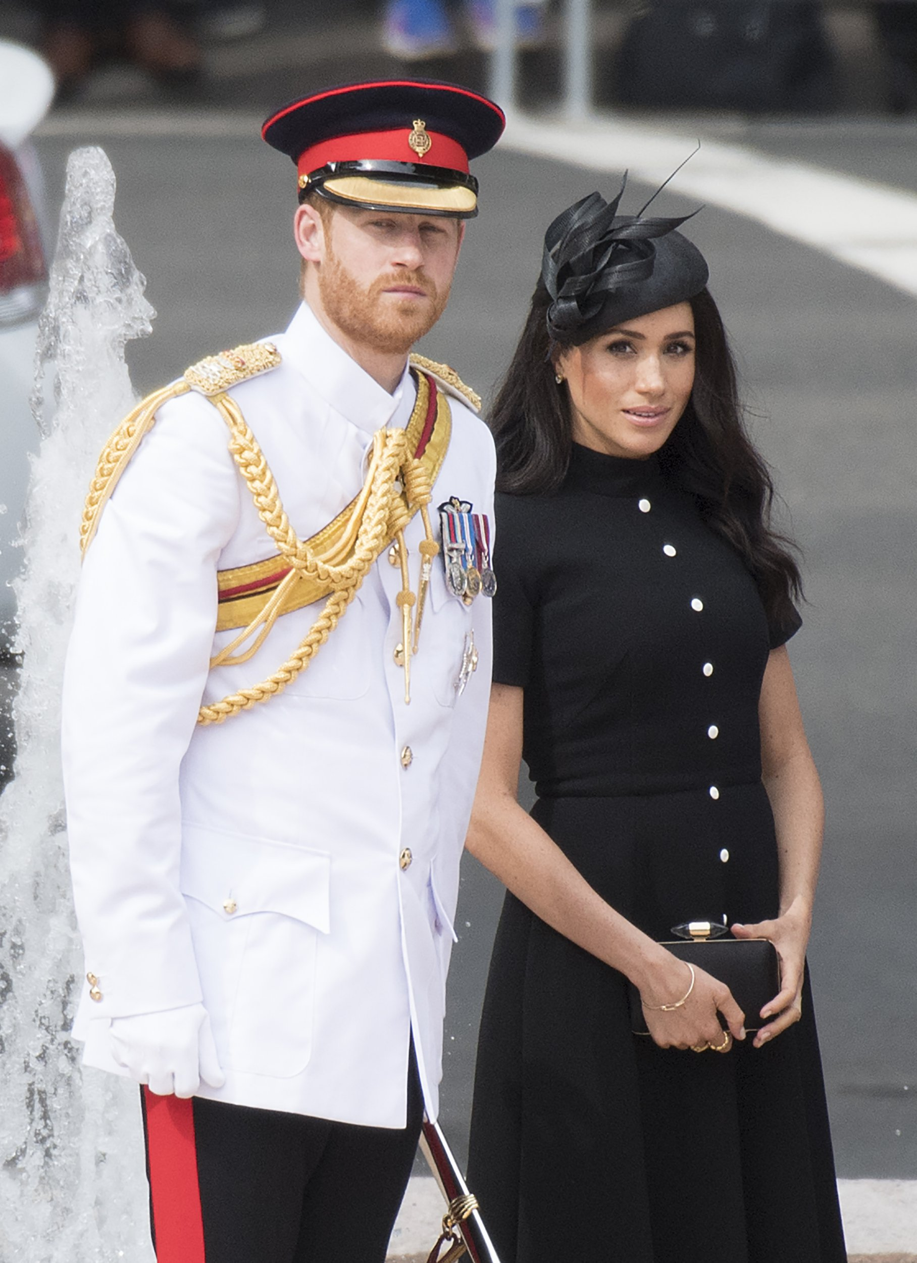Prince Harry, the Duke of Sussex and Meghan, the Duchess of Sussex attend the opening of the enhanced Anzac Memorial in Sydney Pictured: Ref: SPL5034883 201018 NON-EXCLUSIVE Picture by: SplashNews.com Splash News and Pictures Los Angeles: 310-821-2666 New York: 212-619-2666 London: 0207 644 7656 Milan: +39 02 4399 8577 Sydney: +61 02 9240 7700 photodesk@splashnews.com World Rights,