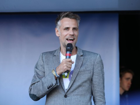 Richard Bacon suffered from PTSD when he returned to the hospital that saved his life