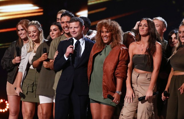 Mandatory Credit: Photo by Dymond/Thames/Syco/REX (9937148ew) LMA Choir with Dermot O'Leary 'The X Factor' TV show, Series 15, Episode 15, London, UK - 20 Oct 2018