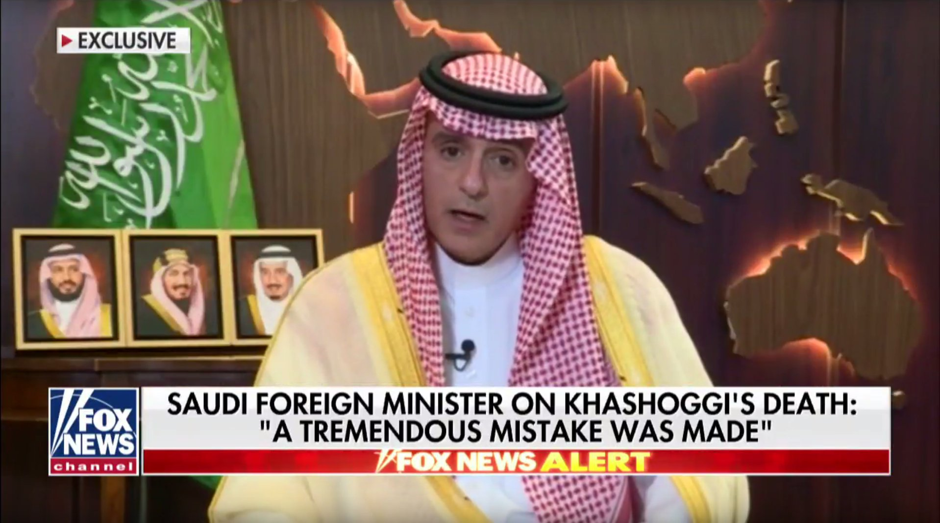 Saudi Arabia's Foreign Minister Adel al-Jubeir speaks exclusively to Fox News' Bret Baier on the 'terrible mistake' that happened at the Saudi consulate in Turkey and says those responsible will be held accountable.