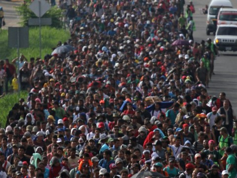 More than 5,000 people have now joined huge caravan heading towards the US