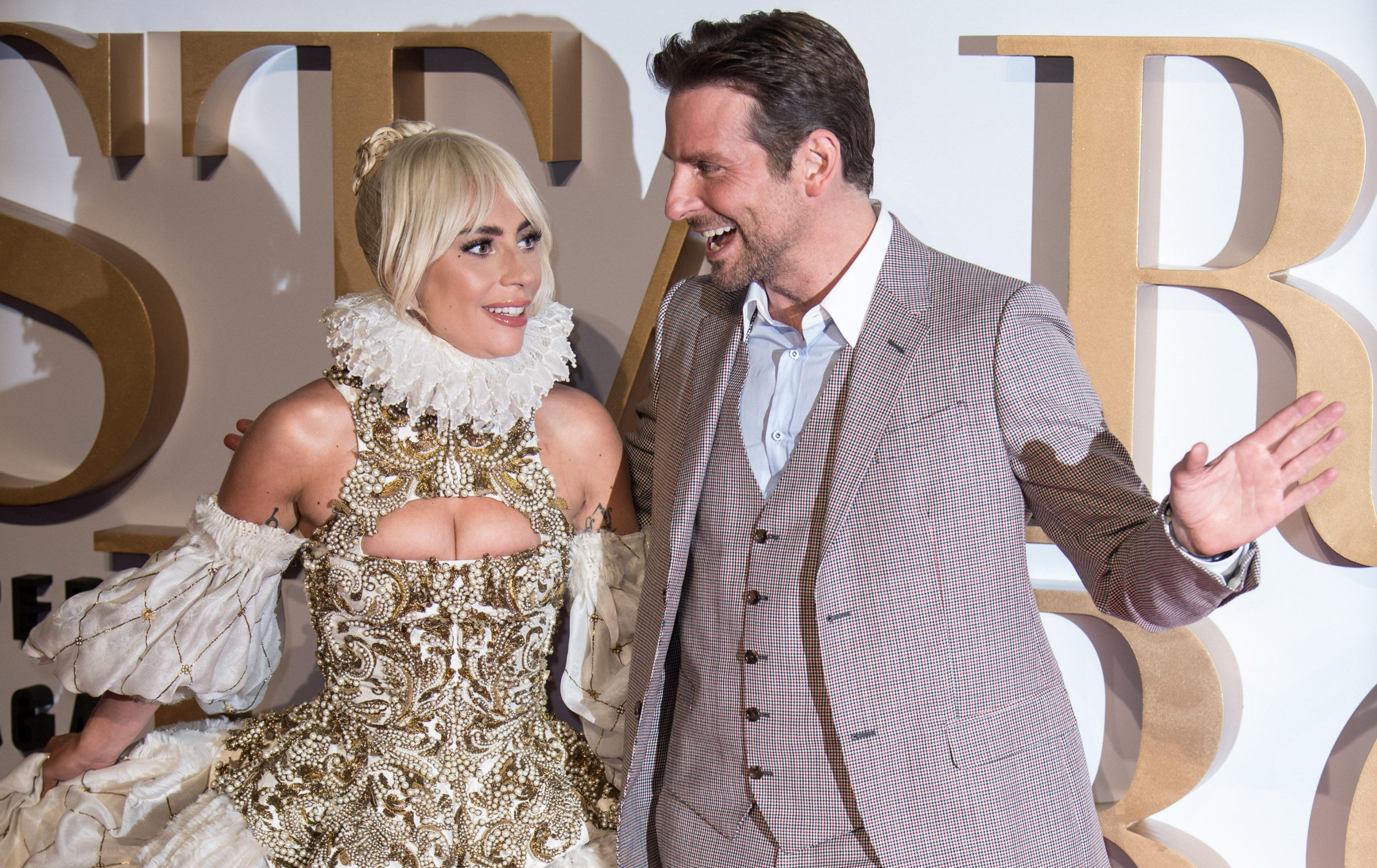 Mandatory Credit: Photo by James Gourley/REX/Shutterstock (9897037dl) Lady Gaga and Bradley Cooper 'A Star Is Born' film premiere, London, UK - 27 Sep 2018