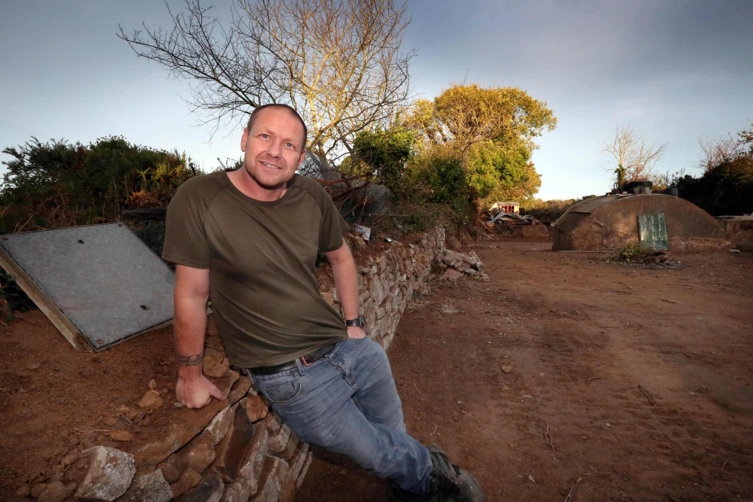 File photo of Steve Ogier, 46, October 11 2018. See story SWPLking.A man who declared his land its own country to evade planning laws is taking his appeal to the UN after it was thrown out of a court.Steve Ogie owns a plot of land he called Everland and is campaigning to have it classified as an independent country. The battle was thrown out of the Royal Court on Guernsey as it was ruled a country must have a population and that worms do not count, despite Steve's argument to the contrary.Now Steve, 46, has vowed to continue his fight and will be taking his unusual legal battle to the UN.