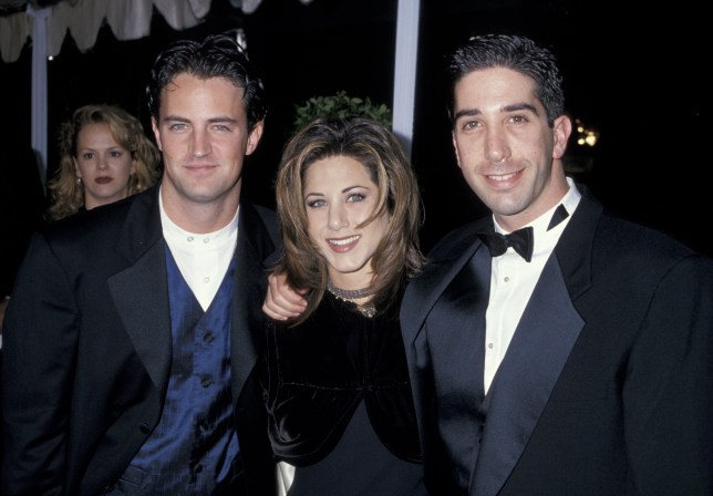 Matthew Perry, Jennifer Aniston and David Schwimmer (Photo by Jim Smeal/WireImage)