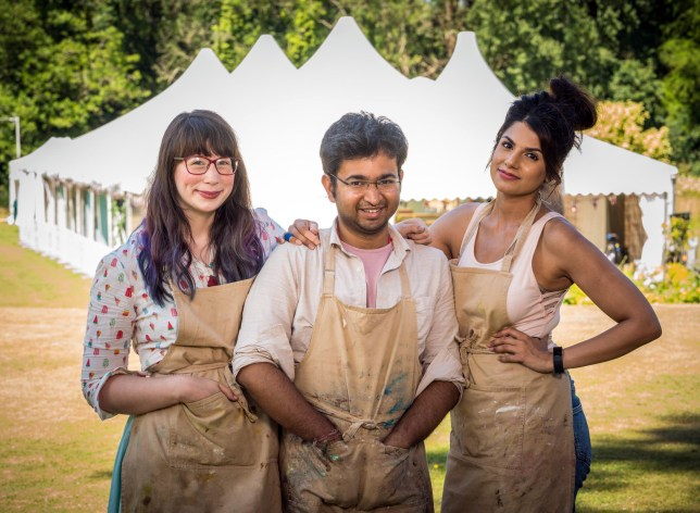 GBBO9: The Final: - Kim-Joy, Rahul & Ruby STRICT EMBARGO OF 21:15 HRS TUESDAY 23 OCTOBER 2018