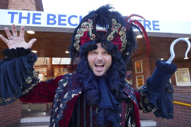 Mandatory Credit: Photo by Geoffrey Swaine/REX (9943194ad) Ryan Thomas as Captain Hook 'Peter Pan' pantomime photocall, The Beck Theatre, Hayes, Middlesex, UK - 24 Oct 2018
