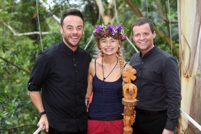 Mandatory Credit: Photo by James Gourley/REX/Shutterstock (9268987ai) Georgia Toffolo is crowned Queen of the Jungle by Anthony McPartlin and Declan Donnelly 'I'm a Celebrity... Get Me Out of Here!' TV Show, Series 17, Australia - 10 Dec 2017