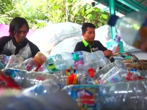 Indonesian city offers free bus rides in exchange for used plastic bottles