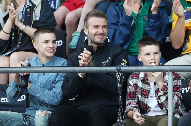 SYDNEY, AUSTRALIA - OCTOBER 26: David Beckham watches Athletics on day seven of the Invictus Games Sydney 2018 at Sydney Olympic Park Athletics Centre on October 26, 2018 in Sydney, Australia. (Photo by Mark Metcalfe/Getty Images for The Invictus Games Foundation)