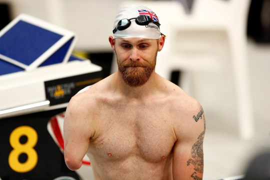 SYDNEY, AUSTRALIA - OCTOBER 24: Mark Ormrod of the Uniteds Kingdom before his race during day five of the Invictus Games Sydney 2018 at Sydney Olympic Park on October 24, 2018 in Sydney, Australia. (Photo by Zak Kaczmarek/Getty Images for the Invictus Games Foundation)